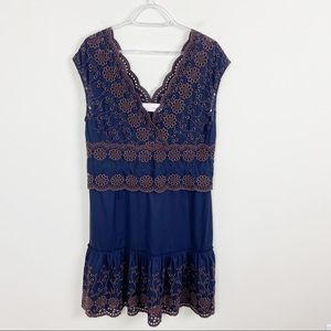 See By Chloe Broderie Anglaise Blue Eyelet Dress
